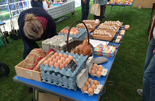 Eggs for sale at Trowbridge Apple Festival