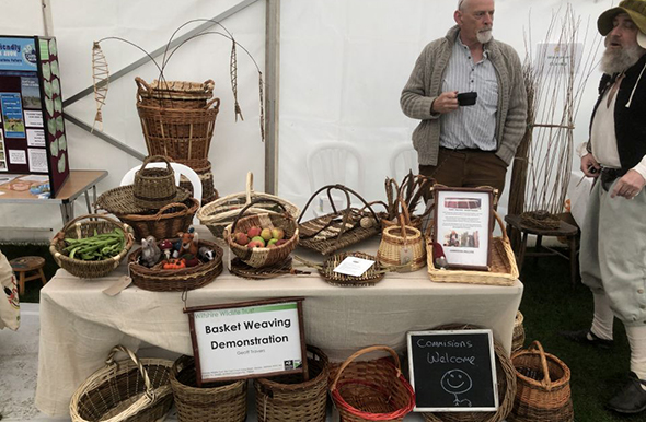 Basket weaving display